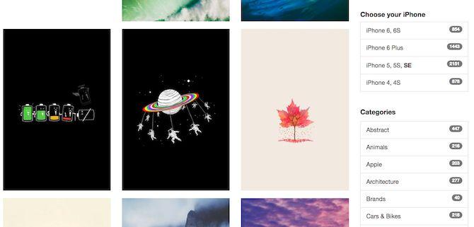 iPhoneWalls Galería de Imágenes