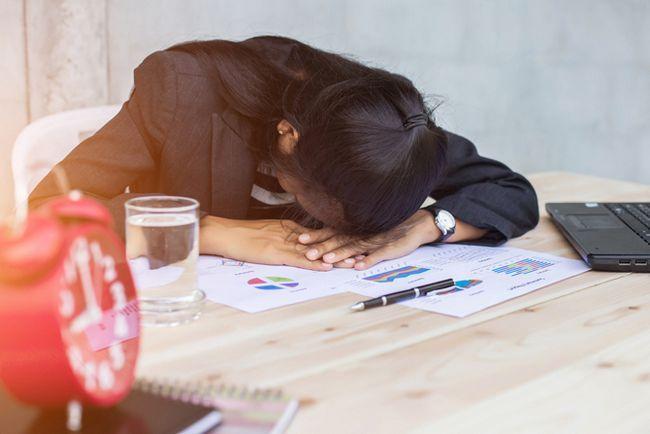 trabajador agotado