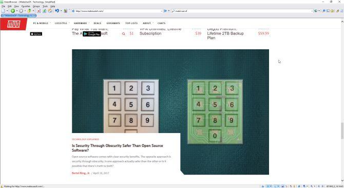 navegador verde ejemplo ventanas