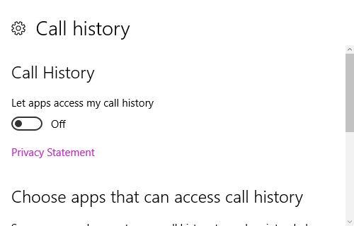 10 Ajustes de llamadas historial de Windows
