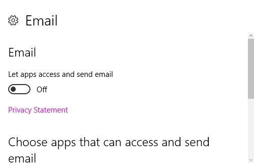 Configuración de Windows 10 Historia de correo electrónico