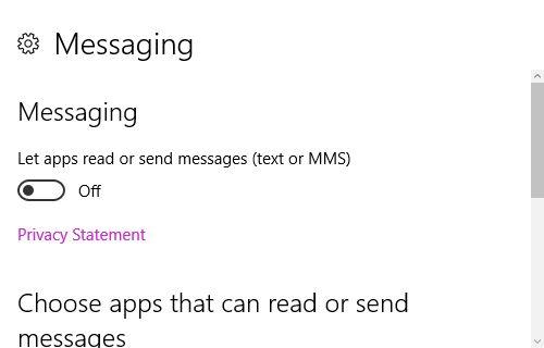 10 Ajustes Historia de mensajería de Windows