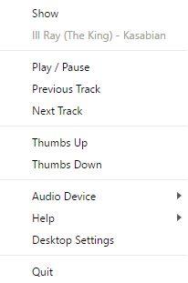 bandeja del sistema reproductor de escritorio juego de música de Google