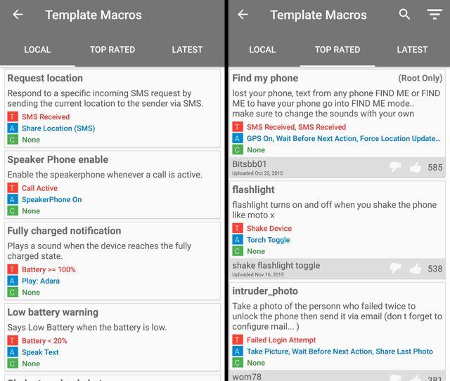 MacroDroid-templates