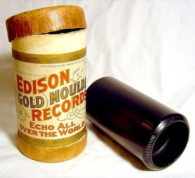 Edison-oro-moldeado-fonógrafo cilindros