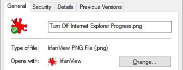 Propiedades de archivo de Windows 10
