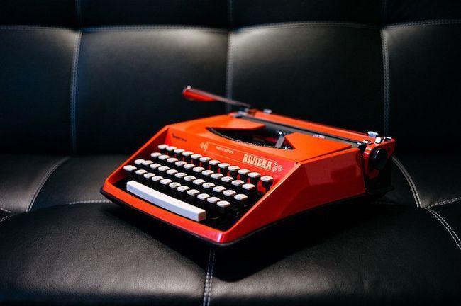 Máquina de escribir retro Riviera en Red