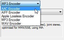 iTunes codificador elección