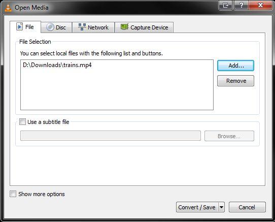 VLC convertir MP4
