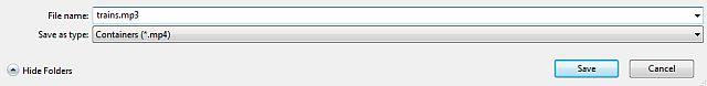 VLC archivo MP3
