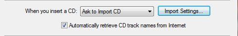 iTunes Ajuste de importación