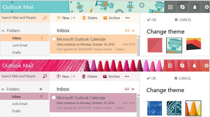 Nuevo Outlook.com - Temas