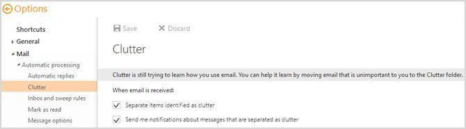 Nuevo Outlook.com - El desorden