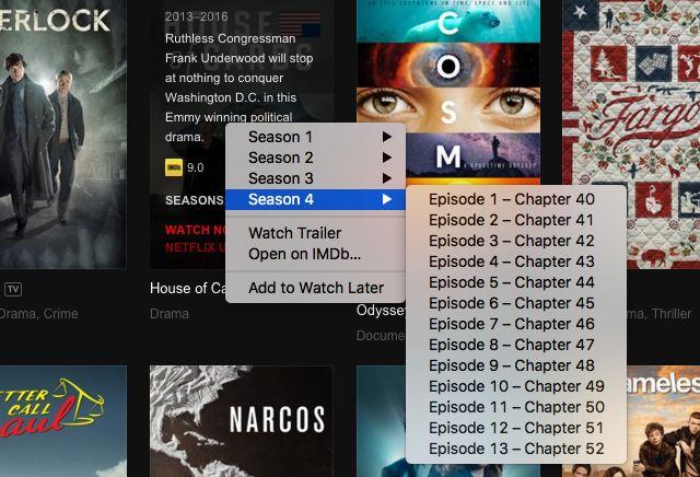 Smartflix derecha de clic de programas de televisión-episodio-lista