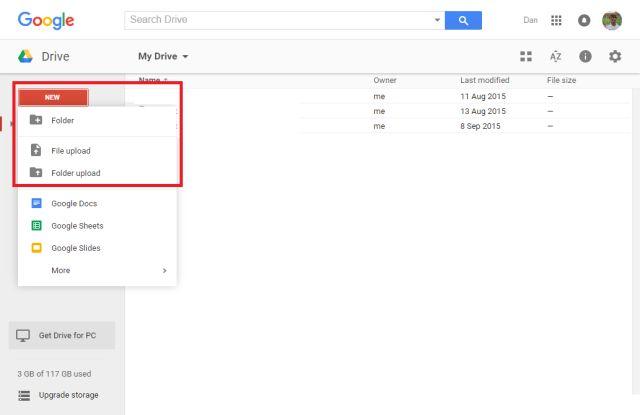 google-drive-menu-carga