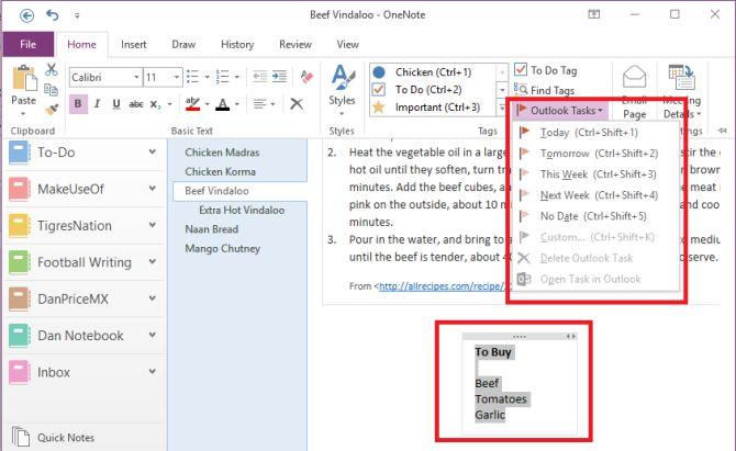 OneNote-Outlook-tarea