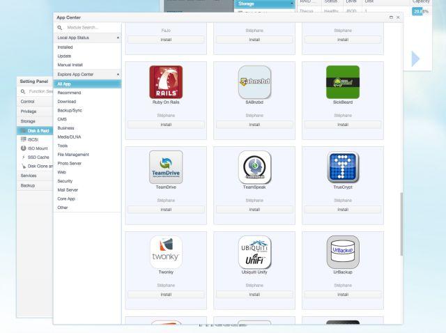 thecus tienda de aplicaciones OS7