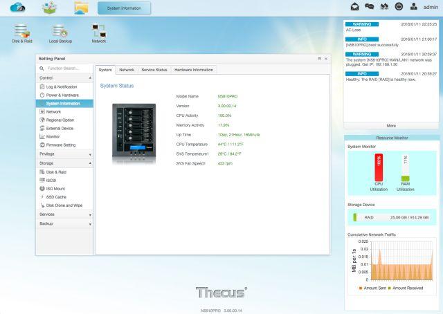 información del sistema OS7