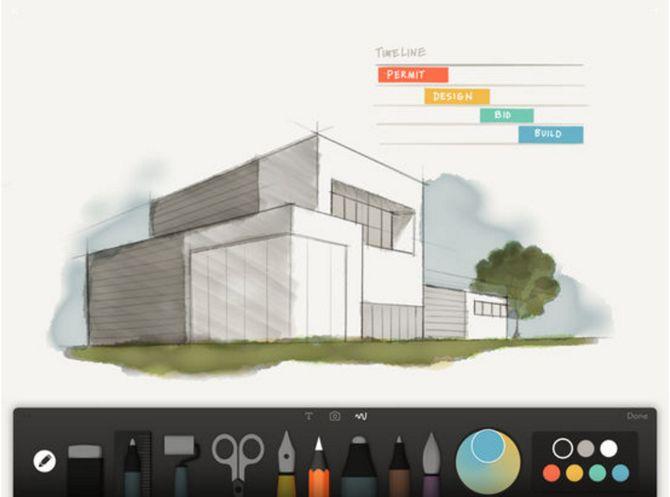 iOS App de papel por FiftyThree