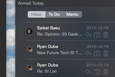 de correo aéreo en widgets