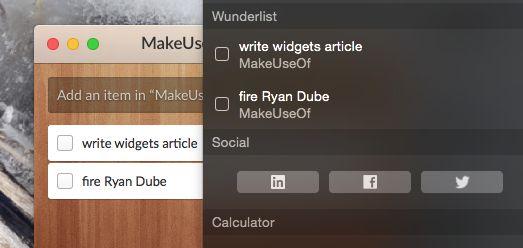 widgets wunderlist