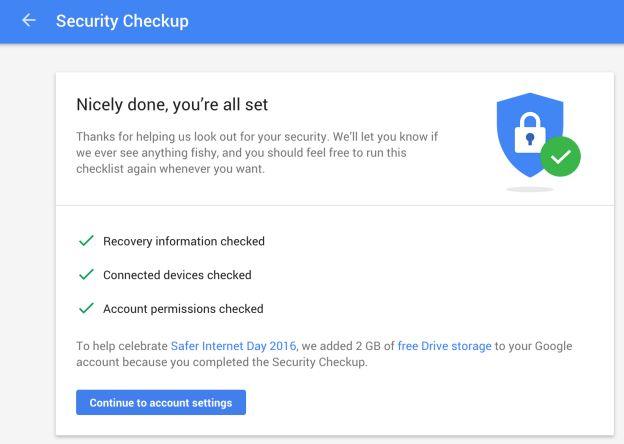 Google Seguridad Chequeo