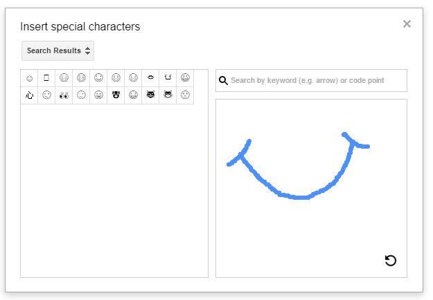 Google Drive - insertar caracteres especiales