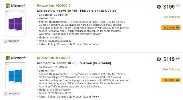 Newegg Windows 10 Fuga 2