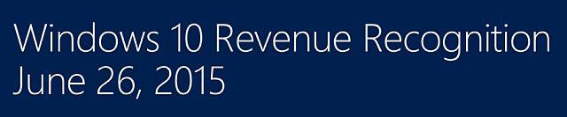Windows 10 Reconocimiento de ingresos