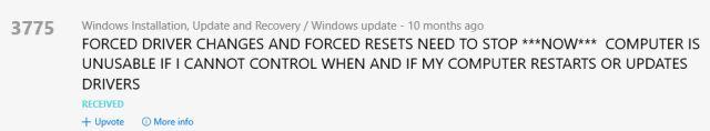 Comentarios Controladores de Windows 10 de Windows