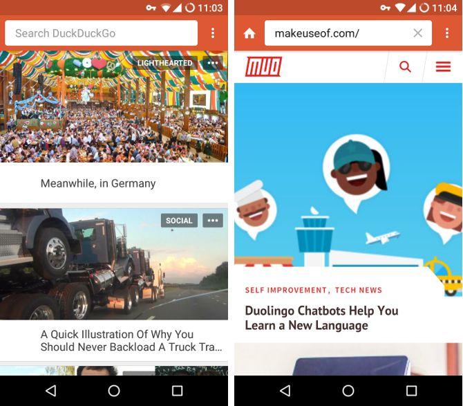 Buscar alternativas Android - DuckDuckGo