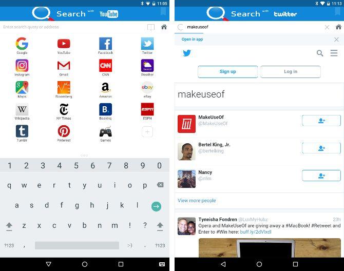 Buscar alternativas Android - Smart búsqueda del navegador