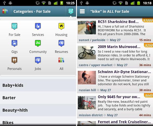 aplicaciones comerciales para Android