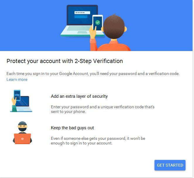 Google verificación de dos pasos
