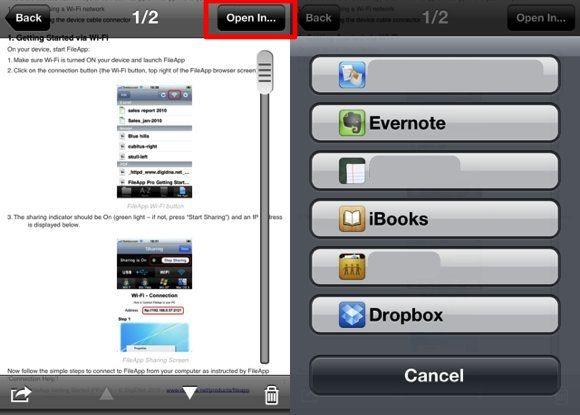 transferencia de archivos de forma inalámbrica iPod
