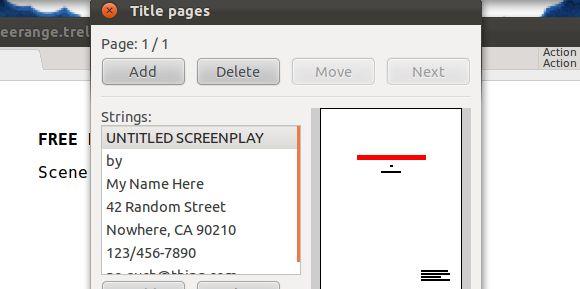 software de escritura de guión