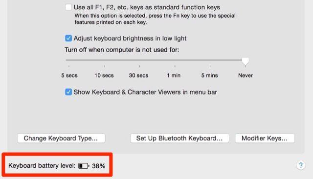 teclado de la batería