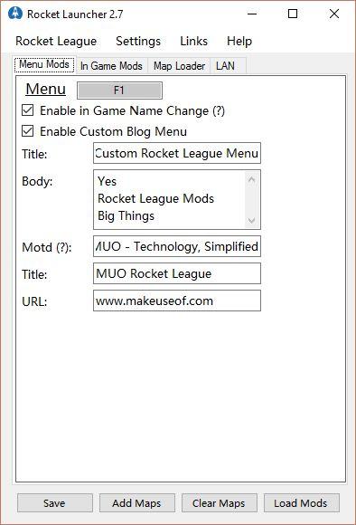 liga de cohetes lanzador de cohetes mod