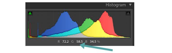 el color de histograma