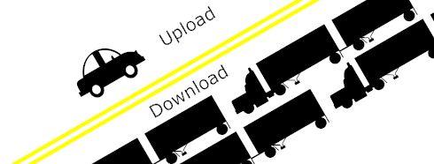 la comprensión de las velocidades de Internet