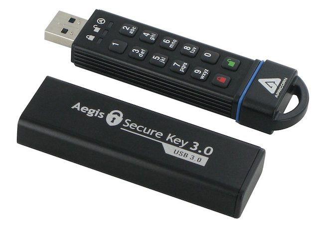 -flash-unidades USB-Aegis-teclado