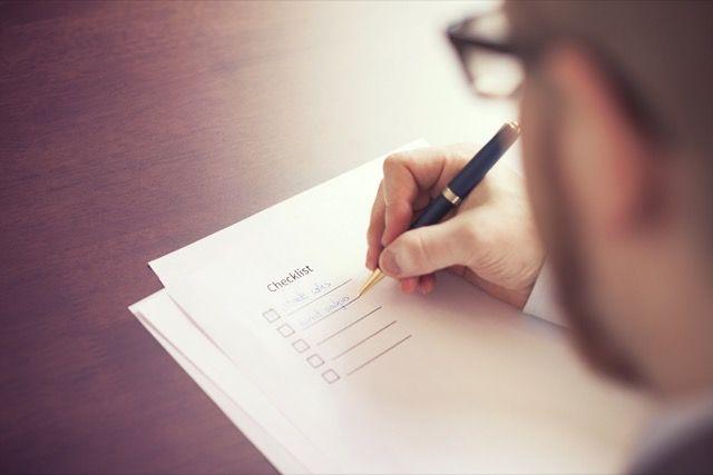 -escritura lista de verificación