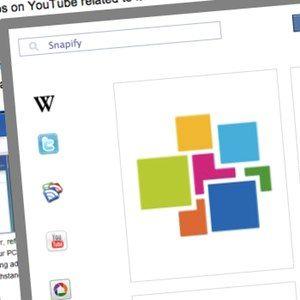 Utilice snapify para buscar fuentes de información adicionales durante la búsqueda de algo en línea [chrome]