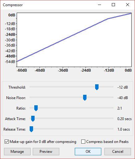 Audacity Audio Mejoras - Compresor