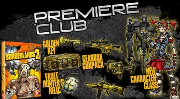 Borderlands 2 Premiere Club de Pre-Order