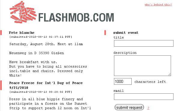 lo que es un flash mob