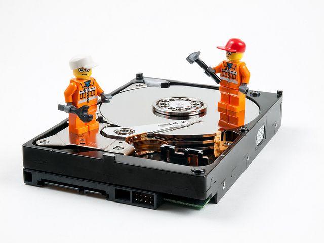 disco duro de reparación de