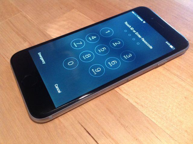 iPhone de pantalla de bloqueo