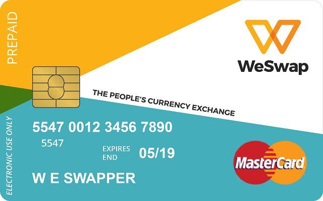El WeSwap MasterCard