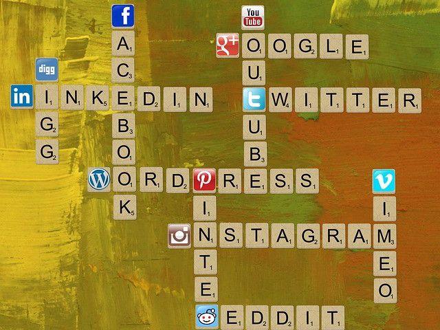 los medios sociales-crucigrama